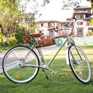 Vintage clásico Sheng milo bicicleta eléctrica 350W ebike Bici del crucero retro bicicletas 700C vehículos de carretera eléctrica