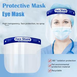 Маски для лица Полное Anti-капельки тумана Пылезащитно Защитная крышка прозрачный пластиковый чехол для лица