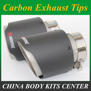 car styling MaAkrapovic exhaust car car-styling pipe muffler tip carbon fiber Sfor for for (1PCS) crkU#