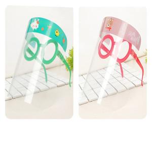 Karikatur-Kind-Sicherheits-Gesichtsschutz Transparent Vollgesichtsmaske Abdeckung Schutzfolie Anti-Fog-PET Face Shield Partei Maske Kopf DHF11