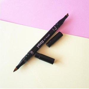 Multifunctional four-head portable makeup brush lip eyebrow eye shadow brush fiber hair special makeup tool