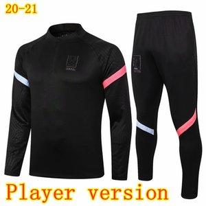 Oyuncu Versiyon HM SON Kore Futbol Tracksuits 2020 2021 KOO HWANG KWON LEE Kim Hyung Futbol Ceket Pantolon Yarım fermuar Coat Eğitim Suit