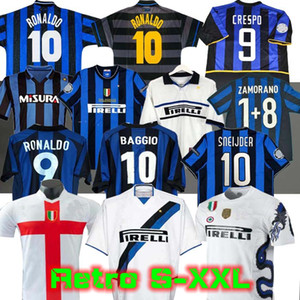 finais 2009 10 MILITO SNEIJDER ZANETTI Futebol Retro jersey 01 02 Football MILAN 1997 1998 97 98 99 2000 Djorkaeff Baggio RONALDO Inter 02 03