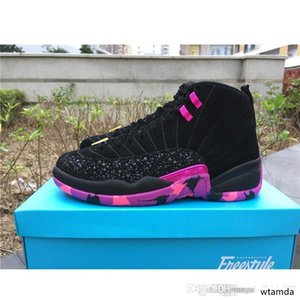 Cheap WomenS Jumpman 12 XII basketball shoes 12s DB Doernbecher Vachetta Tan Hyper Pink Jade Violet UNC CNY J12 sneakers youth kids with box