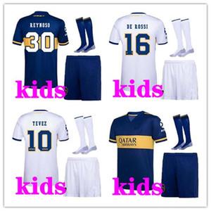 Kids 2020 2021 Футбольные наборы BOCA JUNIORS Футбол Джерси Дом от 20 21 Дом BOCA Юниоры Перес де Росси Тевес Парон Детские фоновые наборы