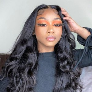 4*4 Lace Closure Wig Malaysian Body Wave Wig Pre Plucked Natural Hairline Lace Frontal Wig
