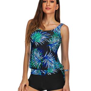 Plus size Tankini Women Swimsuit with shorts 2020 Vintage Floral Two piece swimwear Beach Bathing Suit 5XL Large Tankini sets