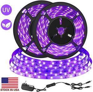La borsa Usa + LED striscia nera UV Kit 12V flessibile Blacklight Infissi 33FT 10m LED Ribbon per dell'interno fluorescente di compleanno di ballo di nozze