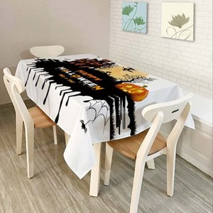 HOT Halloween Pumpkin Lantern Tablecloth Skull Pattern for Children Polyester Comfortable Waterproof Table Cloth Cover for Home T200708