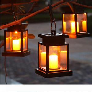 Solar Lights Outdoor Hanging Solar Lantern Solar Garden Lights for Patio Landscape Yard Warm White Candle Flicker Auto Sensor On Off