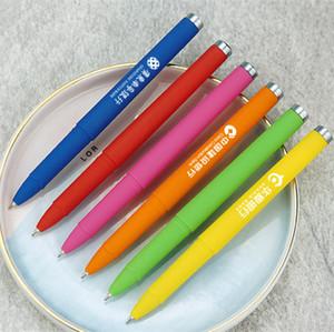 logotipo personalizado pluma de bola de plástico rodillo de firmar la pluma de punta penfelt Lamy bola al por mayor bolígrafo
