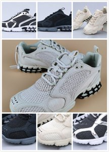 New Arrival Stussy Spiridon Caged Khaki Black Silver Hococal Running Shoes Women Trainers Men Sports Sneakers Size 36-45