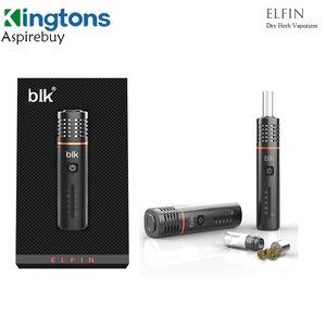Original Kingtons BLK Elfin Kit seco Herb vaporizador 1800mAh Bateria 1 ml Forno nível 5 temperatura cigarro eletrônico Herbal Vape Pen Kingtos Elfin