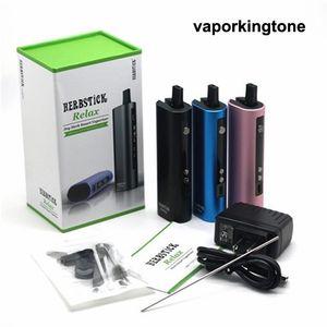 100% Original Herbstick Relaxe Kit 2800mAh TC seco Herb vaporizador Mod Herbal Vaporizadores E Cigarette Vape Pen DHL livre