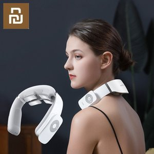 Jeeback G3 Electric Wireless Neck Massager TENS Pulse Relieve Neck Pain 4 Head Vibrator Heating Cervical Massage Health Care