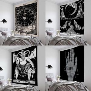 Tarot Sol y la Luna Patrón Manta Mandala tapiz de la pared cuelgan gitano bohemio Tapiz Tapiz Brujería