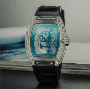 Новые часы бренда Череп спортивные часы мужчины вскользь скелет кварцевых часов Призрак черепа конструктора SPROT ЧАСЫ