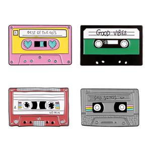 Vídeo Tape broche cartoon metal retro Broches personalidade criativa presente emblema do Pin Roupas e Acessórios Lovely Holiday 2 3QH E2