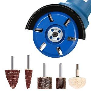 Six Teeth Power Wood Carving Disc Tool Arc Teeth Milling Cutter , Polishing Wheel Abrasive Flap Wheel Sander for Grinding and Po