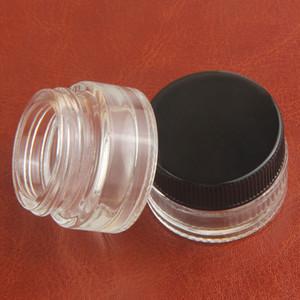 Wholesale butano hash frasco de almacenamiento de vidrio pequeño 5 ml envases de vidrio concentrado bho aceite vidrio tarro dab cera seca hierba pyrex contenedor