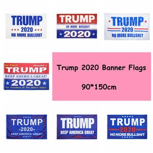 Trump 2020 Banner Flags 90*150cm Donald Trump Keep Make America Great Flag 7 Styles 3x5ft Trump Party Banner Flags CCA12308 60pcs