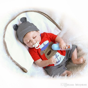 htt httoystore 19inches 46CM Full Body SIlicone Reborn Babies Doll Bath Toy Lifelike Newborn Princess Baby Doll Bonecas Bebes Reborn Menina