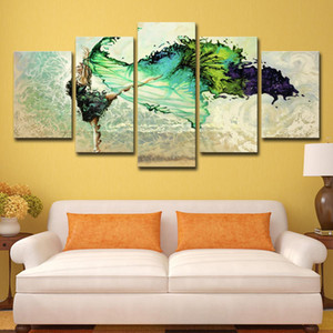 2020 Green Ballet Girls Dancing Watercolor Art Oil Painting Fashion Charming Posters Prints Home Decor Modern Home Decoration Wall Pictures