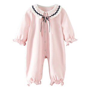 Baby Girl Romper Cotton Bow Lace Newborn Baby Rompers Girls Princess Party Newborn Clothes First Birthday Jumpsuit