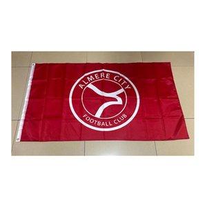 Нидерланды Алмер Сити Флаг 150x90cm полиэстер Спортивной команды клуб Inddor Открытого использование Бесплатная доставка