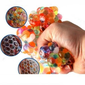 Anti Stress Reliever Rainbow Grape Ball Squishy Phone Straps Mood Relief Hand Wrist Squeeze Decompression Toys Novelty Items 2000pc OOA4880