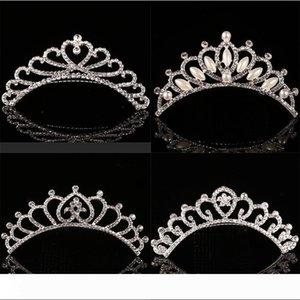 Cute Children tiara crown Wedding Jewelry Flower girl princess crystal rhinestone Tiara Birthday Prom Party Gift