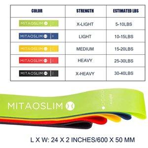 MITAOSLIM Fit Simplifier Résistance de la boucle d'exercice bandes pour Home Fitness, stretching, Entraînement musculaire, la thérapie physique, les bandes d'entraînement, Pila