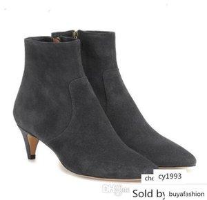 Perfect Design Isabel Derst Tornozelo Preto Genuine camurça Marant botas novas Sapatos Moda
