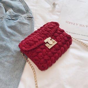 1PCS The New Style of Single Shoulder Slanting Knitting Is Fashionable. Women Bag