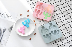 Creative Desert Cactus Silicone Ice Grid Red Eat Ice Mould Handmade Soap Pudding Ice Baking Mould Cream Tools Cookie Chocolate Moulds