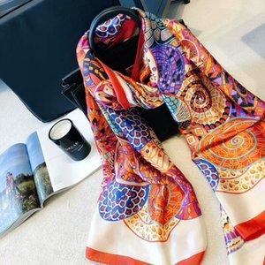 Новые поступления Hermès шелковый шарф Классический марка шелковый шарф лето Легкомысленная пляжное полотенце шелковый платок шарф