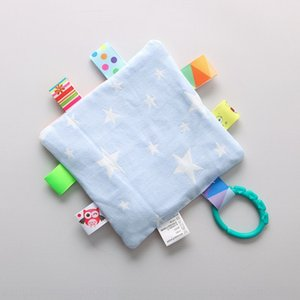 Wn3MZ Pure Cotton class A gauze baby safety children hand-gripped inaccessible tooth napkin napkin grinder including ringing paper BB device