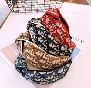 Accesorios para el cabello pelo turbante para Mujeres D Carta cabeza con el abrigo de la manera Cabeza de bandas de precios de fábrica pinzas para el cabello diseñador