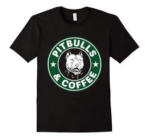 Pitbull et café T-shirt en coton Conception fraîche 3D T T-shirts Impression col rond homme différentes couleurs de haute qualité Top T