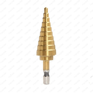 الساخنة التيتانيوم مبيعات الخطوة المخروط مثقاب هول القاطع 4-22MM HSS 4241 على ورقة أدوات معدنية الخشب الحفر الحرة الشحن