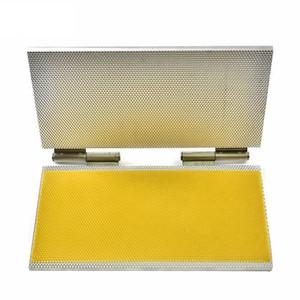 Sólido estupendo Tamaño Langstroth, Dadant Tamaño aleación de aluminio de la cera de abejas Cimientos de la máquina, cera de abejas Notebook Cimientos de la máquina para el envío libre