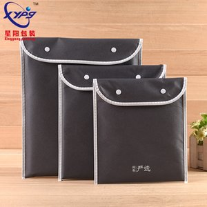 Quality Nonwoven snap button non-woven closure advertising eco-friendly bag non-woven data file storage bag
