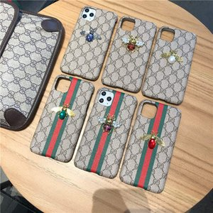 High Quality embroidery Skin Cases S20 S20PLUS NOTE8 9 10 Layered card holder luxury phone case for iphone 11 pro max xs xr Leather shell