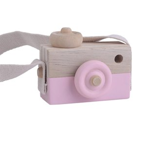 Cute Wooden Toy Camera Kids Girls Boys Creative Neck Camera Photo Props