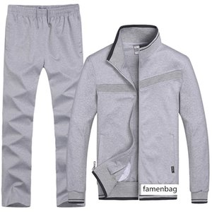Season Men Sportswear Sports Suit Leisure Sports Coat Running Clothing Middle-aged And Elderly Sports Pack