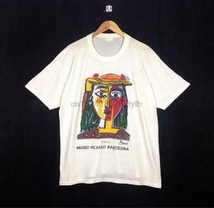 90s Vintage Pablo Picasso Opera Vernice Design ristampare dimensione della T-shirt a 2 xl