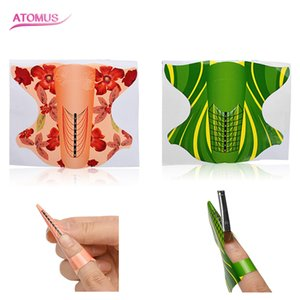 100pcs Nail Art Extension French Acrylic UV Gel Tips Builder Form Guide Stencil Manicure Tools Self-Adhesive Forms Stickers