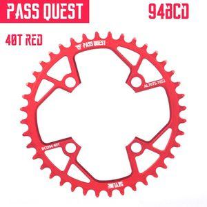 PASS QUEST 94BCD positives et négatives dents seul disque nx gx x1 1400 col quête 40t 38t disque de 7075 40T 38T