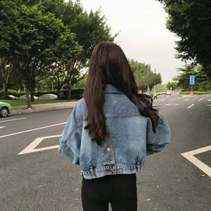 WOMEN'S Dress 2020 New Style Retro Korean-style Bat Sleeve Jeans Coat Women's Short Versatile Loose-Fit BF Jacket
