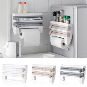 Kitchen Roll Dispenser Cling Film Tin Foil Towel Holder Rack Wall Mounted New Refrigerator Wall Holder